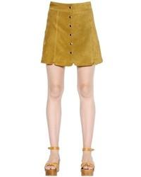 Etoile Isabel Marant Paneled Suede Skirt