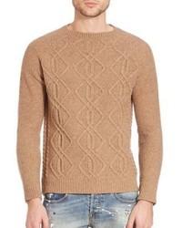 Eleventy Cable Crewneck Sweater
