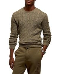 Ralph Lauren Purple Label Cable Knit Cashmere Sweater
