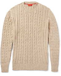 Tan Cable Sweaters for Men | Men's Fashion