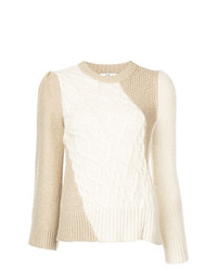 Co Cable Knit Panel Sweater