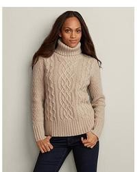 Cable turtleneck sweater medium 6284