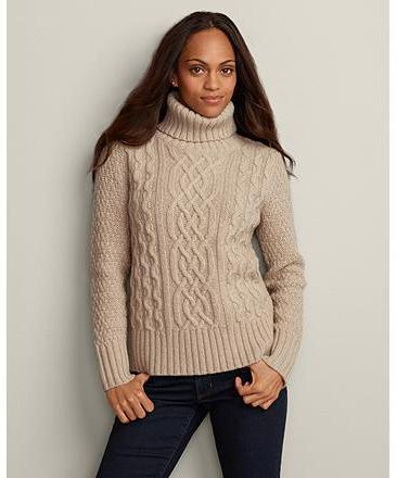 Eddie Bauer Cable Turtleneck Sweater Where To Buy How To Wear
