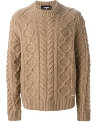 DSQUARED2 Cable Knit Sweater