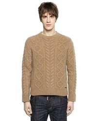 DSQUARED2 Wool Blend Cable Knit Sweater