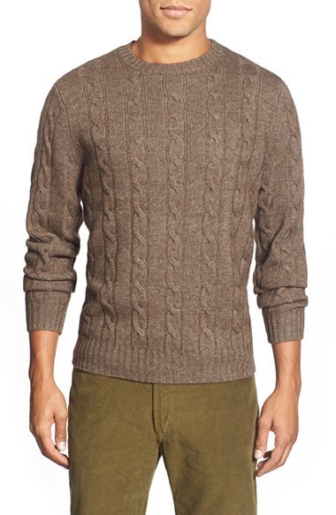 duck head footwear duck head chatham cable knit crewneck sweater