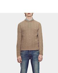 Gucci Cashgora Cable Crew Neck Sweater