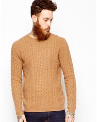 Asos Lambswool Rich Cable Sweater