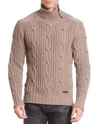 Belstaff Wool Cashmere Cable Knit Sweater