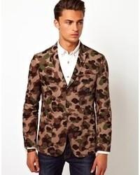 Tan Camouflage Blazer