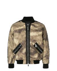 Tan Camouflage Bomber Jacket