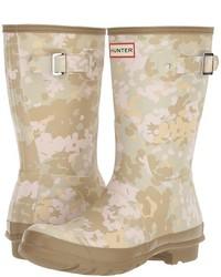 Hunter Original Short Flecktarn Camo Rain Boots
