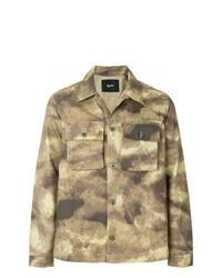 Tan Camouflage Shirt Jacket