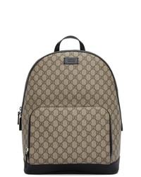 Gucci Beige And Black Gg Eden Backpack