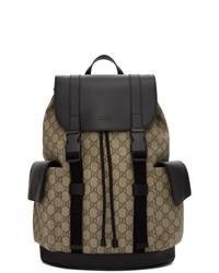 Gucci Beige And Black Soft Gg Supreme Backpack