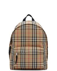 Burberry Beige Check Jett Backpack