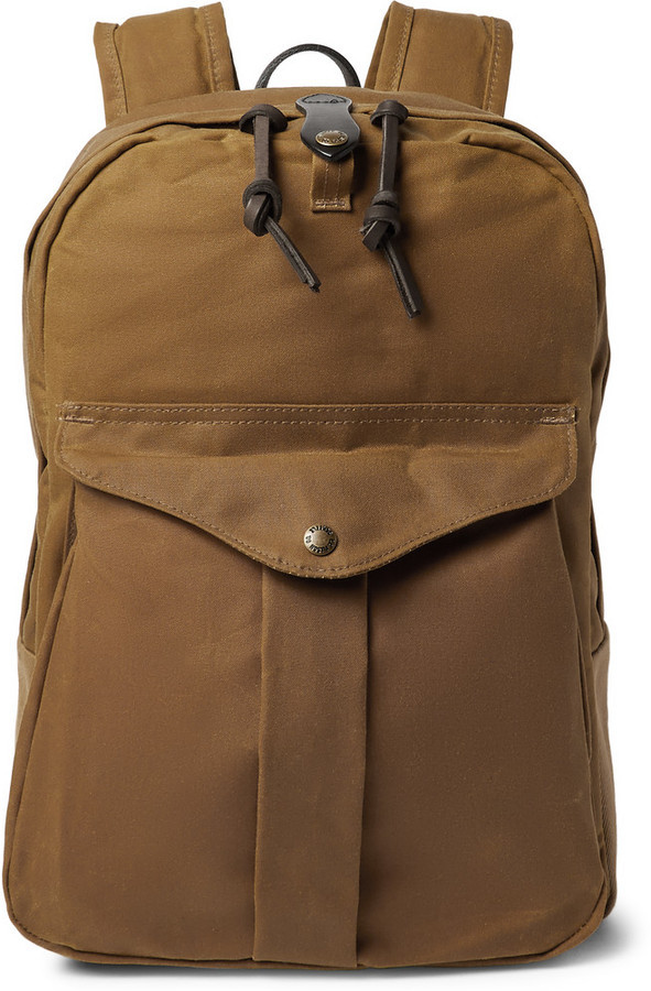 Filson Journeyman Leather Trimmed Canvas Backpack | Where to buy ...