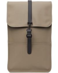 Rains Taupe Waterproof Backpack