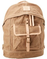 Will leather waxed canvas dome backpack medium 148794