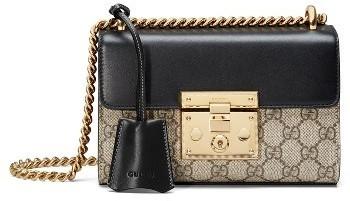 1189d20a3fa ... Gucci Small Padlock Gg Supreme Canvas Leather Shoulder Bag ...