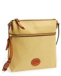 Tan Canvas Crossbody Bag