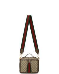 Gucci Beige Small Gg Ophidia Shoulder Bag