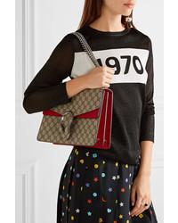 75b803d9d128 Gucci Dionysus Medium Coated Canvas And Suede Shoulder Bag Beige ...