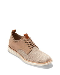 Tan Canvas Derby Shoes