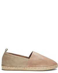 Brunello Cucinelli Leather And Canvas Espadrilles
