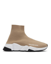 Balenciaga Beige Speed Sneakers