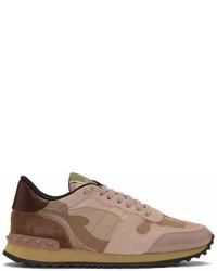 Pink garavani camo rockrunner sneakers medium 6990718