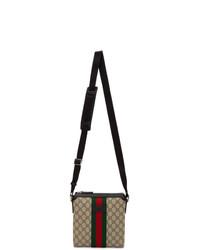 Gucci Beige Gg Supreme Flat Messenger Bag