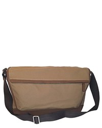 Tan Canvas Messenger Bag