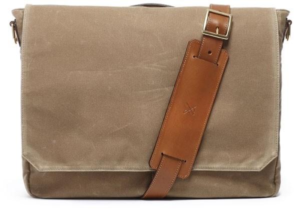 Ernest Alexander Walker British Tan Wax Messenger Bag | Where to ...