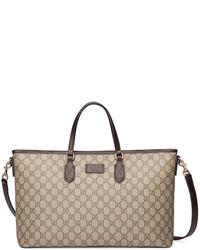 Gucci Eden Gg Medium Tote Bag W Strap Brown