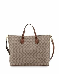 Gucci Gg Supreme Top Handle Tote Bag Tan