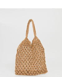 My Accessories London Crochet Woven Shopper