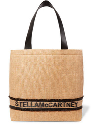Stella McCartney Small Faux Med Raffia Tote