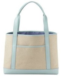 GiGi New York With Love From Kat Sag Harbor Leather Trimmed Canvas Tote