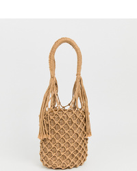My Accessories Woven Straw Shoulder Bag