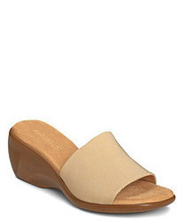 Aerosoles Rosoles On Stage Wedge Slide Sandals