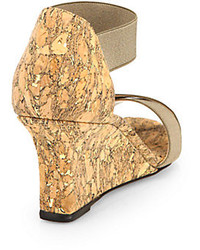 9bc2becb4dcba Manolo Blahnik Veggia Elastic Cork Wedge Sandals, $695 | Saks Fifth ...
