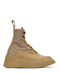Tan Canvas Work Boots