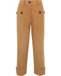 Rejina Pyo Hazel Cropped Cotton Blend Twill Straight Leg Pants