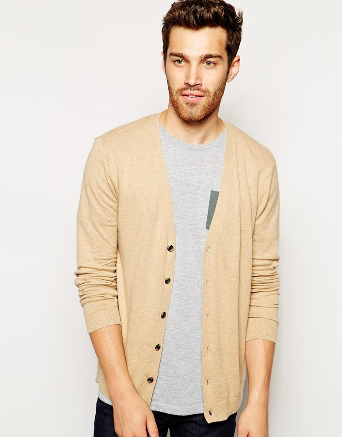 Asos Cardigan In Cotton