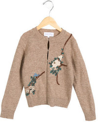 Rachel Riley Girls Wool Embroidered Cardigan