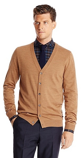 Hugo Boss Mardon D Wool Sweater Cardigan M Beige | Where to buy ...