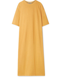 Elizabeth and James Crawford Oversized Cotton Blend Terry Midi Dress