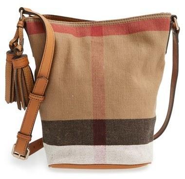 bf0351d3c8fb ... Burberry Brit Mini Ashby Canvas Check Crossbody Bucket Bag Brown ...