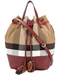 Burberry Canvas Check Bucket Bag